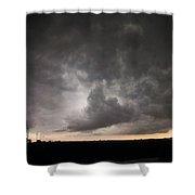 Severe Warned Nebraska Storm Cells Shower Curtain