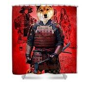 Shiba Inu Art Canvas Print Shower Curtain