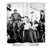 Silent Still: College Shower Curtain