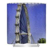 Singapore Flyer  Shower Curtain