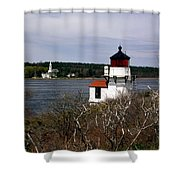Squirrel Point Lighthouse Shower Curtain