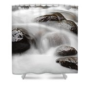 Stream Shower Curtain by Les Cunliffe