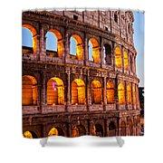 The Majestic Coliseum - Rome Shower Curtain