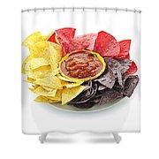 Tortilla Chips And Salsa Shower Curtain