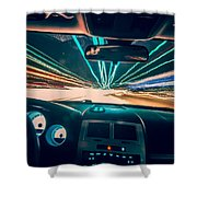 Traveling At Speed Of Light Shower Curtain