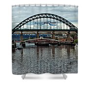 Tyne Bridge Shower Curtain