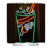 7 Up Sign Shower Curtain
