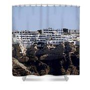 Views From Santorini Greece Shower Curtain