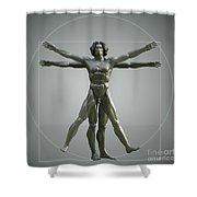 Vitruvian Man Shower Curtain