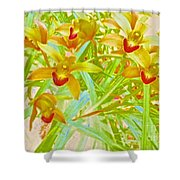 Laughing Girls Watercolor Photography Shower Curtain