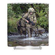 Welsh Guards Training Shower Curtain