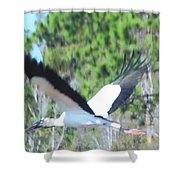 Wood Stork Shower Curtain