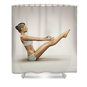 Yoga Boat Pose Shower Curtain
