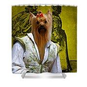 Yorkshire Terrier Art Canvas Print Shower Curtain