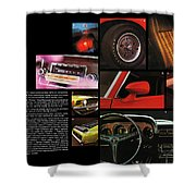 '70 Mustang Options Shower Curtain