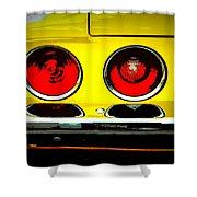 71 Camaro Tail Lights Shower Curtain
