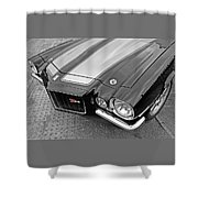 71 Camaro Z28 In Black And White Shower Curtain