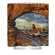 714000087 Turret Arch Arches National Park Shower Curtain