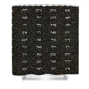 72 Names Of God Shower Curtain