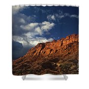 clearing storm waterpocket fold capitol reef NP Shower Curtain