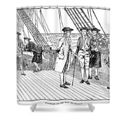 Benjamin Franklin (1706-1790) Shower Curtain