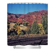 744 Sl Two Tracks Shower Curtain