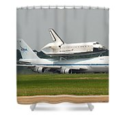 747 Carrying Space Shuttle Shower Curtain