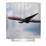 777 American Airlines Shower Curtain