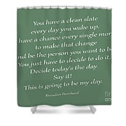 79- Brendon Burchard  Shower Curtain