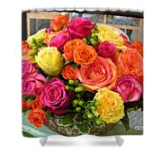 #790 D300 Roses Super Bright Shower Curtain