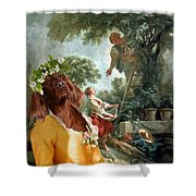 Irish Setter Art Canvas Print Shower Curtain