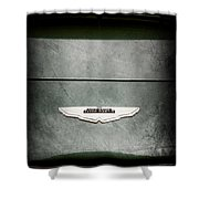 1959 Aston Martin Db4 Gt Hood Emblem Shower Curtain