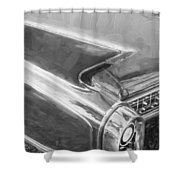 1960 Cadillac Eldorado Biarritz Convertible Painted Bw    Shower Curtain