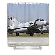 A Qatar Emiri Air Force Mirage Shower Curtain