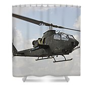 An Ah-1s Tzefa Attack Helicopter Shower Curtain