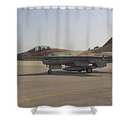 An F-16c Barak Of The Israeli Air Force Shower Curtain
