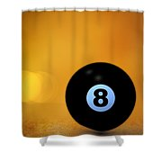 8 Ball Shower Curtain