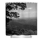 Blue Ridge Mountains - Virginia Bw Shower Curtain