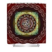 Celtic Pattern Shower Curtain