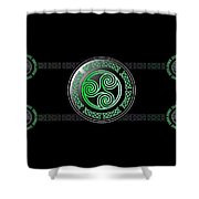 Celtic Triskele Shower Curtain