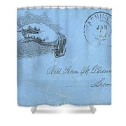 Civil War Letter, C1863 Shower Curtain