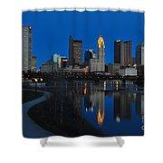 Columbus Ohio Skyline At Night Shower Curtain