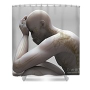 Depression Shower Curtain