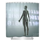 Digital Being Shower Curtain