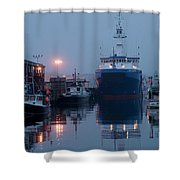 Early Morning In Portland, Maine Shower Curtain