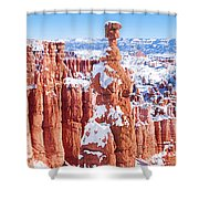 Eroded Rocks In A Canyon, Bryce Canyon Shower Curtain