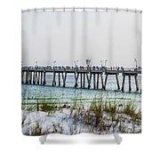 Florida Beach Scene Shower Curtain