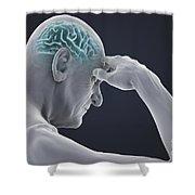 Head Pain Shower Curtain