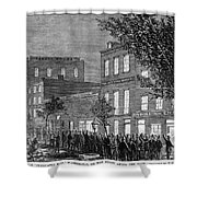 Johnson Impeachment, 1868 Shower Curtain