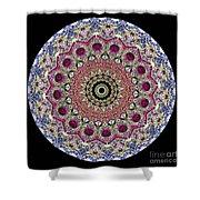 Kaleidoscope Colorful Jeweled Rhinestones Shower Curtain